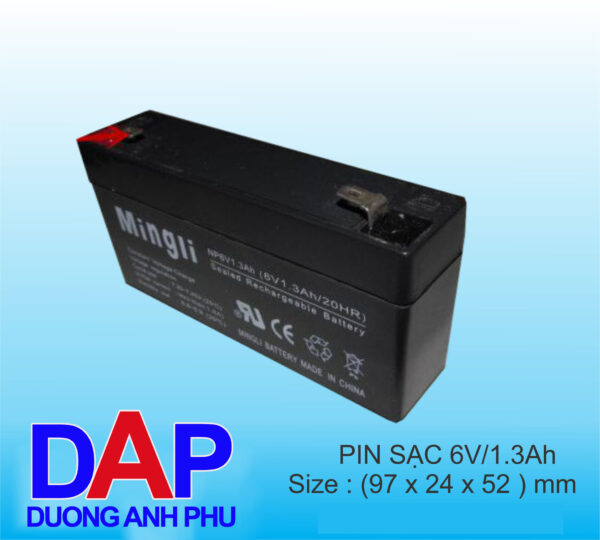 pin 6v 1.3 Ah